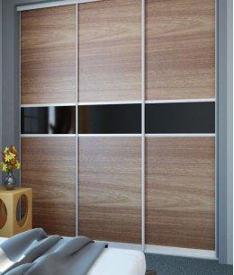 Двери для встроенного шкафа из дерева