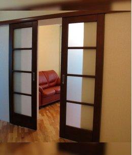 Раздвижные двойные двери межкомнатные