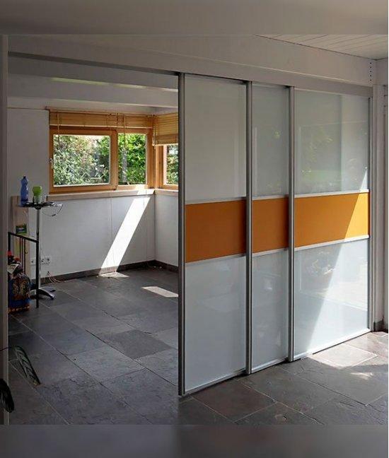 Раздвижные двери на две комнаты