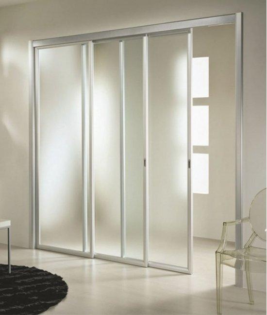 Раздвижные двери прозрачные