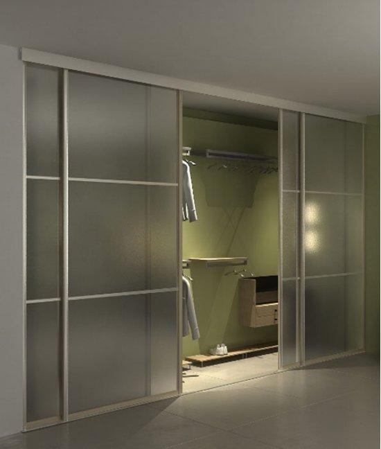 Подвесные двери для встроенного шкафа