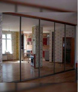 Пять (5) зеркальных дверей для шкафа-купе
