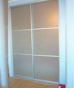 Двери-купе межкомнатные с матовым стеклом