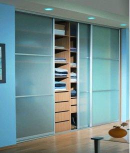 Стеклянные двери для встроенного шкафа