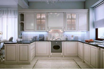 Симметричная классическая кухня - п-образная