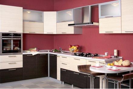 Встроенный кухонный гарнитур угловой
