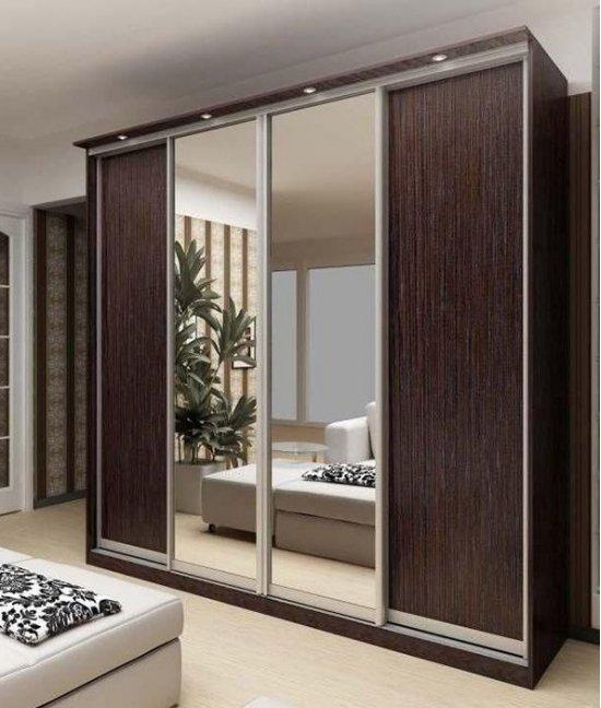 Шкаф купе комбинированный с зеркалом