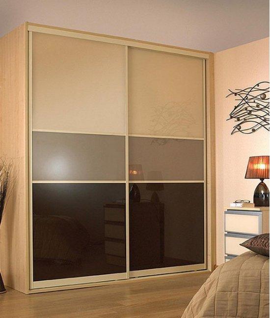 Шкаф купе корпусный со стеклом лакобель