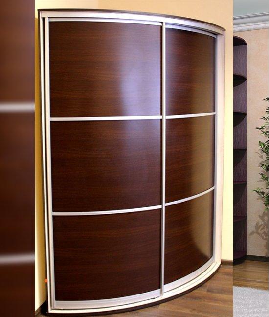 Шкафы купе круглые угловые из лдсп