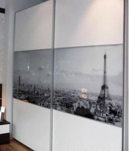 Шкаф купе с фотопечатью париж