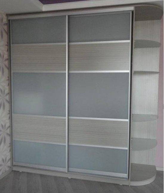 Шкаф купе серый