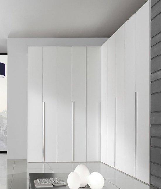 Шкаф купе в гостиную белый глянец